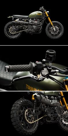 Love the Scrambler but want more power? This is how you take Triumph's modern classic from mild to wildwith a hot-rodded engine, hlins suspension, Brembo brakes and LSL superbike controls. See the mouth-watering spec at http://www.bikeexif.com/2014-triu
