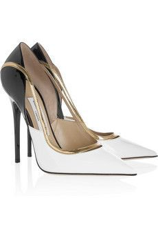 Viper patent-leather pumps by Jimmy Choo