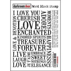 darkroom door Love word stamp - Google Search