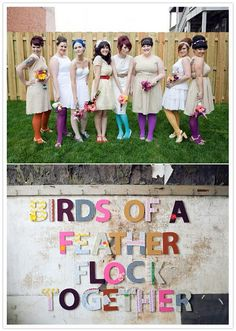 I love the idea of the colored tights for a fall wedding.