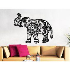 Indian Elephant Interior Design Wall Art Sticker Decal