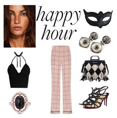 """""""party"""" by megakus on Polyvore featuring Valentino, RED Valentino, Christian Louboutin, Silveroots and Masquerade"""