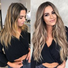 Before and after Wend w / Wendy Wilker hand tied extensions and the magnificent and amazing Jord Balayage Hair Blonde, Ombre Hair, Hair Blog, Pretty Hairstyles, Hair Trends, Hair Inspiration, Hair Inspo, Curly Hair Styles, Hair Makeup