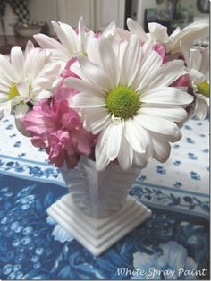 Fresh flowers and cherry dessert. Ranch Recipe, Cherry Desserts, White Spray Paint, Spray Painting, Fresh Flowers, Simple, Plants, Recipes, Drink