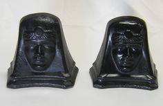 really old red clay book ends