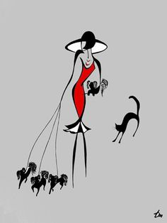 Lady with Dogs ♥ by Russian Minimalist artist Tatyana Markovtsev. Tatyana is able to express powerful and complex human feelings via just a few elegant lines, and she does this without ever drawing faces. Image Illusion, Modern Art, Contemporary Art, Messy Art, Wire Art, Minimalist Art, Line Drawing, Oeuvre D'art, Art Pictures