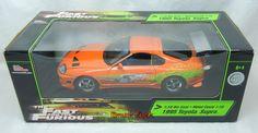 Ertl Toyota Supra Fast and the Furious 1:18 Brian`s Car 1:18 orange 33413   eBay