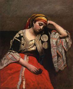 Jean-Baptiste-Camille Corot - Juive d'Alger (1870)