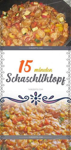 15 Minuten Schaschliktopf - 1k Rezepte 300 Calorie Lunches, Ground Beef Stroganoff, 300 Calories, Big Mac, Meatball Recipes, China, Chana Masala, Food And Drink, Cooking