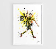 Robert Lewandowski Borussia Dortmund  A3 Art Prints of by NazarArt, $15.00