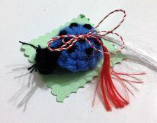 Martisor Buburuza albastra