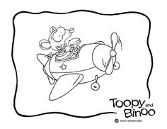 Free toopy and binoo colouring page the nanny for Toopy and binoo coloring pages