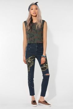 BDG DIY High-Rise Seamed Cigarette Jean - Pure Blue  #UrbanOutfitters