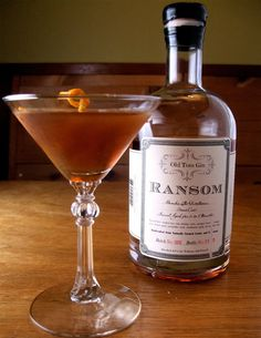 The Martinez Cocktail-Ransom gin makes the best, I personally error on the side of gin with the sweet vermouth coming in second at 3/4-1oz. Go scant on the Maraschino and bitters