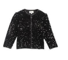 Bomber jackets are always in trend! Our gorgeous Disco Sequins Jacket is a combination of comfort and organic style. The detailed square reinforced for durability with a gorgeous lining. Will make your outfit stand out. Fully lined. Fabric: Polyester Color: Black Length: Regular Length Neck: Round Neck Sleeve: Full Sleeves Pattern-Work: Sequined Washcare: Normal Machine Wash Cherry Crumble, Girls Coats & Jackets, Sequin Jacket, Full Sleeves, Bomber Jackets, Color Black, Sequins, Organic, Fabric