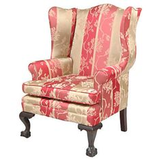Wingback Chair Chippendale-Style from Seaver & McLellan Antiques for $1,250 on Square Market