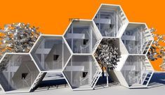 Concept Grafeno Loft / Arketiposchile – Weilok – Join the world of pin Architecture Module, Futuristic Architecture, Concept Architecture, Interior Architecture, Futuristisches Design, House Design, Design Transport, Hexagon House, Modular Housing