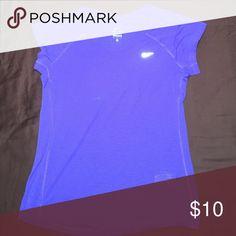 Nike Dry Fit Top Nike DryFit workout top burnout look. Color is a purple bluish. Nike Tops Tees - Short Sleeve