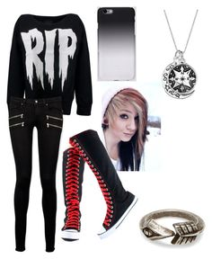 """Untitled #8"" by art-of-depression ❤ liked on Polyvore featuring moda, Paige Denim, C6 y TOMS"