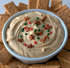 Get meta and dip gingerbread cookies in the gingerbread dip. Get the recipe from Food, Folks, and Fun.   - Delish.com