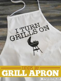 Father's Day Grill Apron - Reasons To Skip The Housework