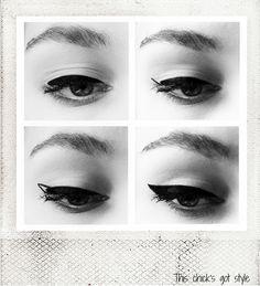 Winged eyeliner tutorial steps