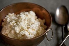 Home made Ricotta:  Most satisfying and delicious. But I use 1qt. whole milk, 1 C heavy cream, 2 tbsp white vinegar.
