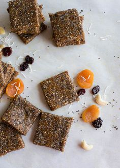 apricot cherry energy bars // raw, vegan, gluten-free, refined sugar-free