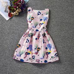 2016 New summer children Korean girls hot air balloon printed dress princess dress -in Dresses from Mother & Kids on Aliexpress.com | Alibaba Group
