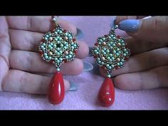 Beading is among the most popular niches in precious jewelry making and truly so. It takes a great deal of skills and perseverance in order to make intricate and imaginative pieces from simply a bunch of beads and string. Wire Jewelry, Beaded Jewelry, Handmade Jewelry, Seed Bead Earrings, Beaded Earrings, Beading Tutorials, Beading Patterns, Earring Tutorial, Diy Tutorial