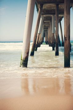 TITLE: Hermosa Beach Pier DESCRIPTION: Underneath the Hermosa Beach Pier. Los Angeles, California.