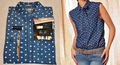 Transformer une chemise en chemise lavallière                                                                                                                                                                                 Plus