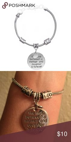 Mother/Daughter Love Charm Bracelet Alex/Ani Style Amazing bracelet, perfect gift Sterling Silver Adjustable Firm Price Remember rate item quickly, please Jewelry Bracelets