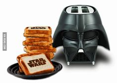 """This delightful Vader toaster has settings that range from """"Lukewarm"""" to """"Owen and Beru"""""""