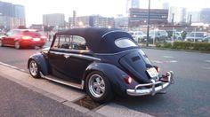 Takehiko Masuda, Yokohama, Kanagawa, Japan. His 1965 Midnight Blue VW Convertible 2176cc engine with 48IDA Weber, Porsche alloy wheels.