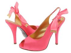 Pink Satin Peep Toe Slingbacks