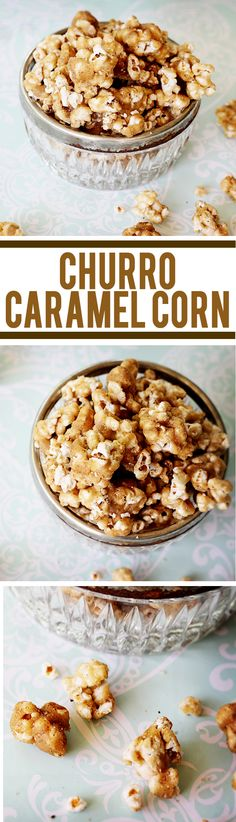 Sweet and salty crunchy caramel corn drizzled with white and dark chocolate! Candy Recipes, Baking Recipes, Sweet Recipes, Snack Recipes, Dessert Recipes, Yummy Snacks, Yummy Treats, Delicious Desserts, Sweet Treats