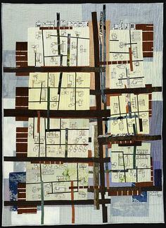 City Grid IV, 2007 Textile art by Valerie Goodwin