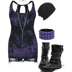 """Something Dark"" by bvb3666 on Polyvore"