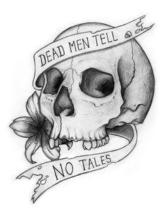 Dead Men Tell No Tales Skull by liquid-venom.deviantart.com on @deviantART