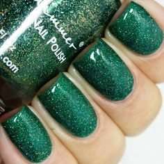 KBShimmer Spruce Things Up Holographic Jelly Nail Polish