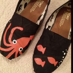 Hand painted Toms…i want squid on both