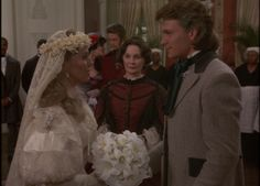 Clarissa and Orry at the wedding of Brett to Billy Hazard.