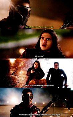 """""""Oh my god, you're princess bride-ing me right now!"""" - Cisco, Dante and Rupture #TheFlash"""