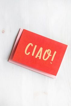 6723d9e1df Say hello the Italian way with this exclusive Ciao greeting card.