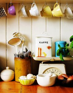 6. Under Cabinet Hooks For Coffee Mugs | 23 Awesome Ways To Organize Your Coffee Mug Storage; The Last Storage Is Ingenious