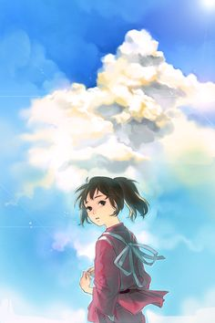 Spirited away. When you look at this picture, can you sense Haku somewhere behind the sky?
