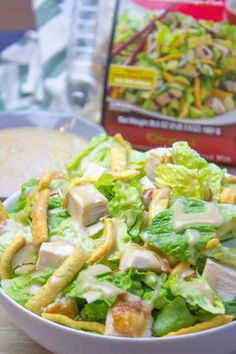 Complete with a Chinese chicken salad dressing, this copycat recipe contains all the flavors of the Costco Chinese-Style Salad Kit at a fraction of the price. If you're a fan of Costco, then there's no doubt that you'll love this Chinese chicken salad! Costco Chicken Salad, Chicken Salad Recipes, Pork Chop Recipes, Chinese Chicken Salad Dressing, Chinese Salad, Miso Dressing, Chinese Food, Asian Chopped Salad, Salads