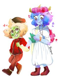 My flowershop AU is coming up nicely i really love drawing lapis with flowers! More Lapidot! Lapis And Peridot, Lapis Lazuli, Lapidot, Fanart, Love Drawings, Steven Universe, Cartoon Network, Cartoon Art, Really Cool Stuff