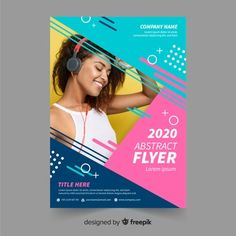 Abstract flyer template Free Vector Template of Abstract Flyer, in nice bright colors Flyer Free, Free Flyer Templates, Business Flyer Templates, Creative Flyer Design, Creative Flyers, Creative Posters, Flugblatt Design, Layout Design, Free Vectors